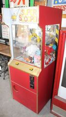 Super Scooper arcade crane game with toy contents, not tested