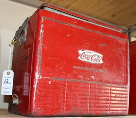 Coca Cola metal cooler, original paint