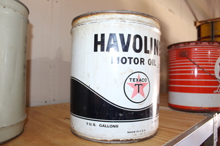 Havoline 5gal oil can,