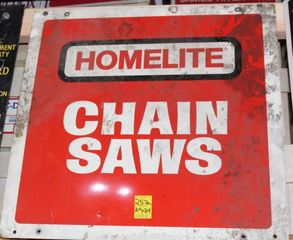 Homelite Chain Saws single sided tin sign, 24