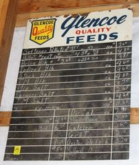Glenco Quality Feeds chalkboard sign, 28.25