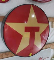 Texaco single sided plastic sign, 33