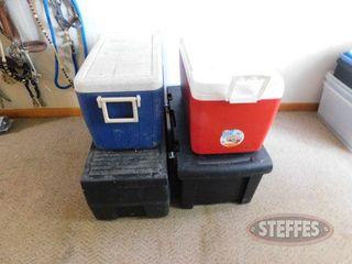 2 Coolers 2 Black Tubs 2 jpg