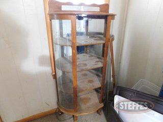 Wooden Hutch w Mirror Back 2 jpg