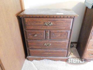 4 Drawer Wooden Dresser 2 jpg