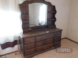 9 Drawer Dresser w Mirror Shelves 2 jpg