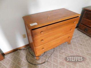 3 Drawer Wooden Dresser 2 jpg