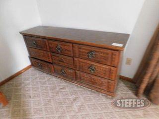 9 Drawer Wooden Dresser 2 jpg