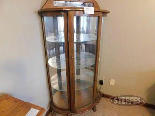 Wooden Cabinet w Mirror Back 2 jpg