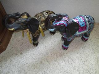 (2) Decorative Elephants...