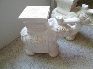 (2) Elephant Statues- Ceramic...