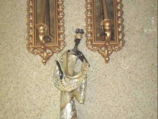 (2) Wall Hanging Mirrors, W/Candles...