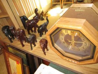 Wall Clock & Elephants Décor...