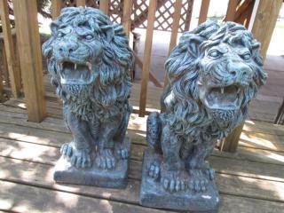 Solid Concrete Lion Statues 30