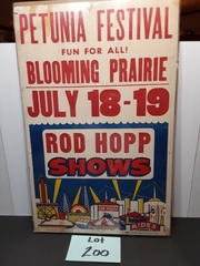 Vintage Petunia Festival Poster Original