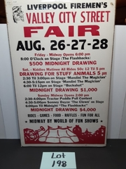 Vintage LiverPool Firemen's Fair Poster Original