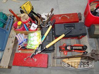 Pallet of misc shop items 1 jpg