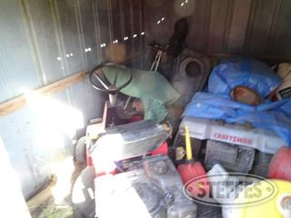 Steel shed w contents to include 1 jpg