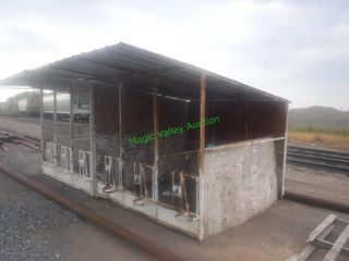 Calf Hutches- 3 Stalls-Grain Feeders/Buckets