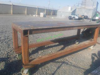 Heavy Duty Steel Table on Rollers