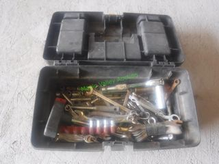 Tool Box- Assorted Wrenches & Sockets