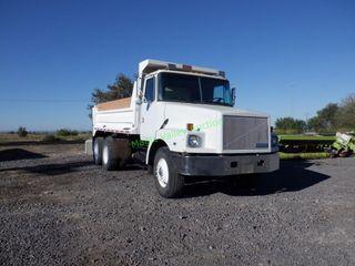 1992 White GMC 15' Triple Axle Dump Truck