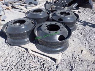4- 10 Hole Hub Pilot Steel Wheels 22.5