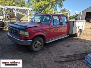 1995 Ford F-350 dually with service body, 192,000