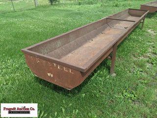 Mack Steel 20? feed bunk, 14-gauge steel