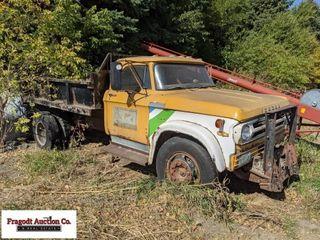 Dodge Dump Truck, Motor Is Free, Gas, 4+2 Transmis