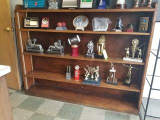 2 Wood shelves