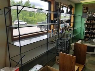 4 Glass & Metal Display shelves