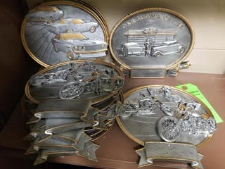 Motorcycle & cars plaques/trophy