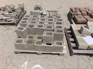 52 Gray 1/2 Cinder Blocks