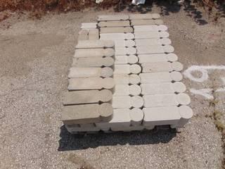 65 Pieces of Grey Interlocking Bullet Edge Pavers