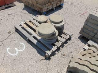 14 Round Grey Stepping Stone Pavers
