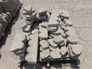 Gray Scalloped Edge Pavers Pieces