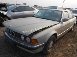 1992 BMW 7 Series WBAGC4318NDC30693 Gold