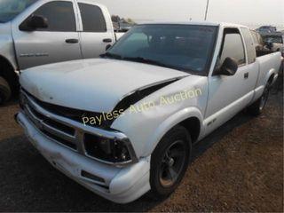 1996 Chevrolet S10 1GCCS19X4T8174267 White