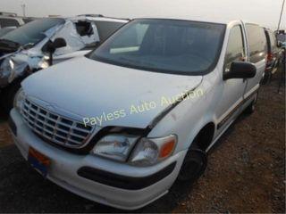 2000 Chevrolet Venture 1GNDX03E0YD325778 White