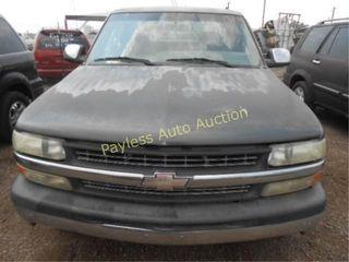 2001 Chevrolet Silverado 1GCEC19V01Z327609 Gray