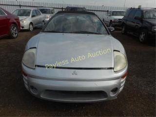 2003 Mitsubishi Eclipse 4A3AE45G33E129793 Grey