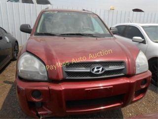 2008 Hyundai Tucson KM8JM12BX8U892920 Red