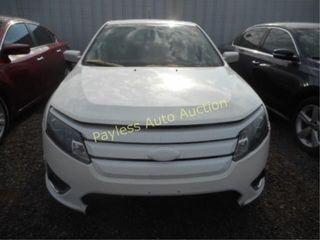2012 Ford Fusion 3FAHP0JA2CR255281 White