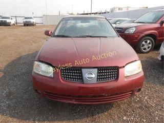 2006 Nissan Sentra 3N1CB51D96L486148 Red