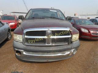 2003 Dodge Ram 1D7HA16N03J535729 Maroon
