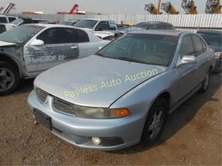 2003 Mitsubishi Galant 4A3AA46G13E051055 Blue