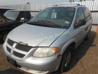 2003 Dodge Caravan 1D4GP25R23B263132 Silver