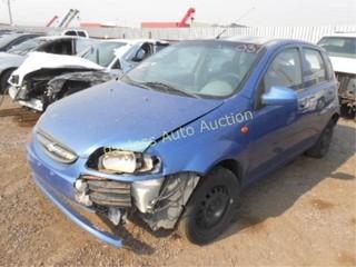 2004 Chevrolet Aveo KL1TD62644B161829 Blue