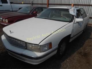 1996 Cadillac Deville 1G6KD52Y5TU223440 White